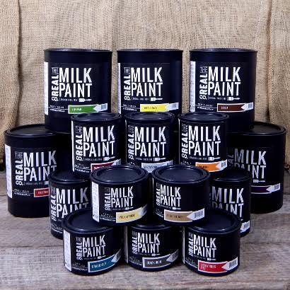 milk paint cans