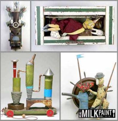 milk paint objects