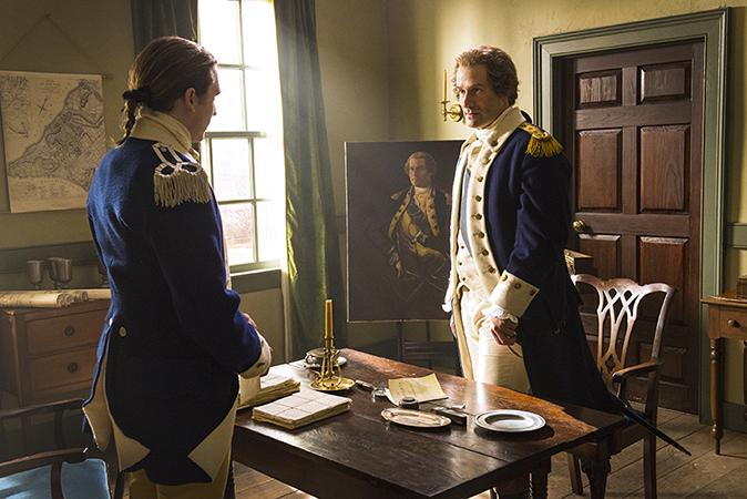 Seth Numrich as Ben Tallmadge and Ian Kahn as General George Washington - TURN: Washington's Spies _ Season 2, Episode 1 - Photo Credit: Antony Platt/AMC