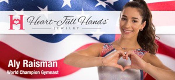 ALY RAISMAN - World Champion Gymnast (PRNewsFoto/Heart-Full Hands Jewelry)