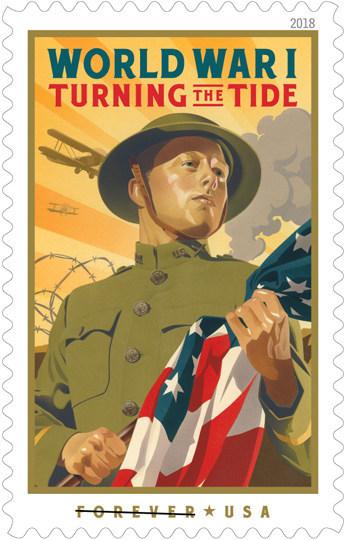 US Postal Service WW1 Stamp