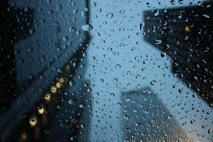 rainy window rain storm